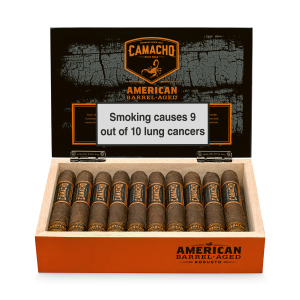 Camacho American Barrel Aged Robusto Cigars - END OF LINE CLEARANCE
