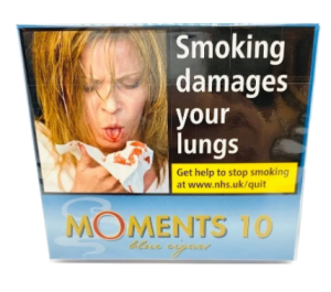 Moments 'Blue' Miniature Cigars, pack of 10