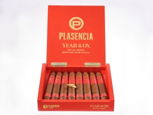 Plasencia Year Of The OX Limited Edition Cigars, Box of 8 Salamones 7x58