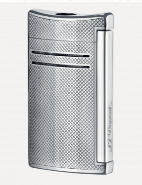 ST Dupont Maxi Jet Cigar Lighter Chrome Grid