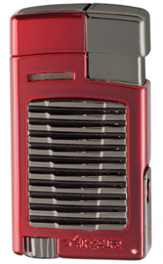 Xikar Forte Single Jet Flame Lighter with Punch Red