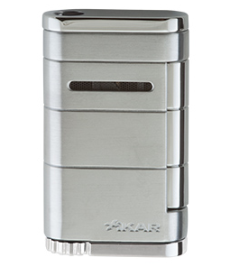 Xikar Allume Single Jet Flame Cigar Lighter Silver
